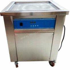 Square Single pan roll ice cream machine